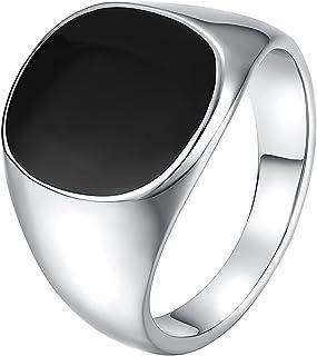 خواتم Yoursfs سوداء مطلية بالذهب عيار 18 قيراط للرجال مطلية بالذهب عيار 18