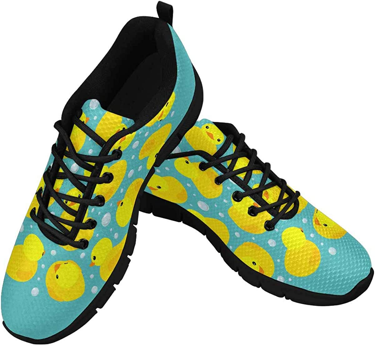 INTERESTPRINT Yellow Rubber Ducks Women's Breathable Non Slip Sneakers