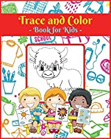 Trace and Color Book for Kids V4: Activity Book for Children, 20 Unique Designs, Perfect for Kids Ages 4-8. Easy, Large picture for drawing with dot instructions. Great Gift for Boys and Girls.