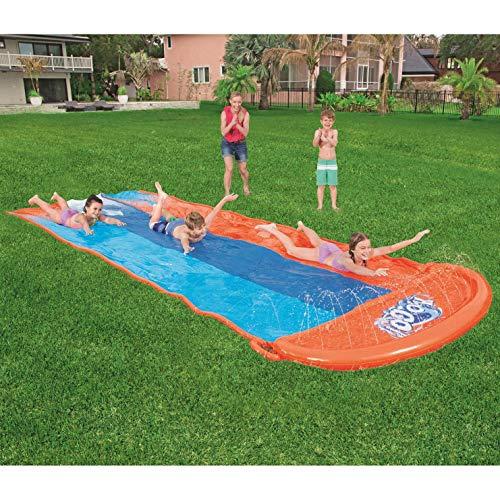 Lgan Tobogan para Piscina Inchable,De Gran Tamaño 550x210cm Niño Juego Jardin Agua Verano Tobogan para Piscina Grande Tobogan para Piscina Alta