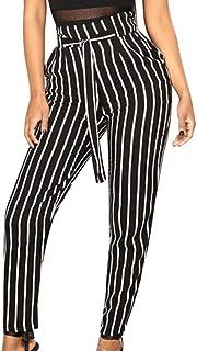 Amazon Es Telas A Rayas Pantalones Mujer Ropa