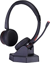 Wireless Headset with Microphone for Office Over The Head Truck Headset Wireless Headphone for Cell Phone