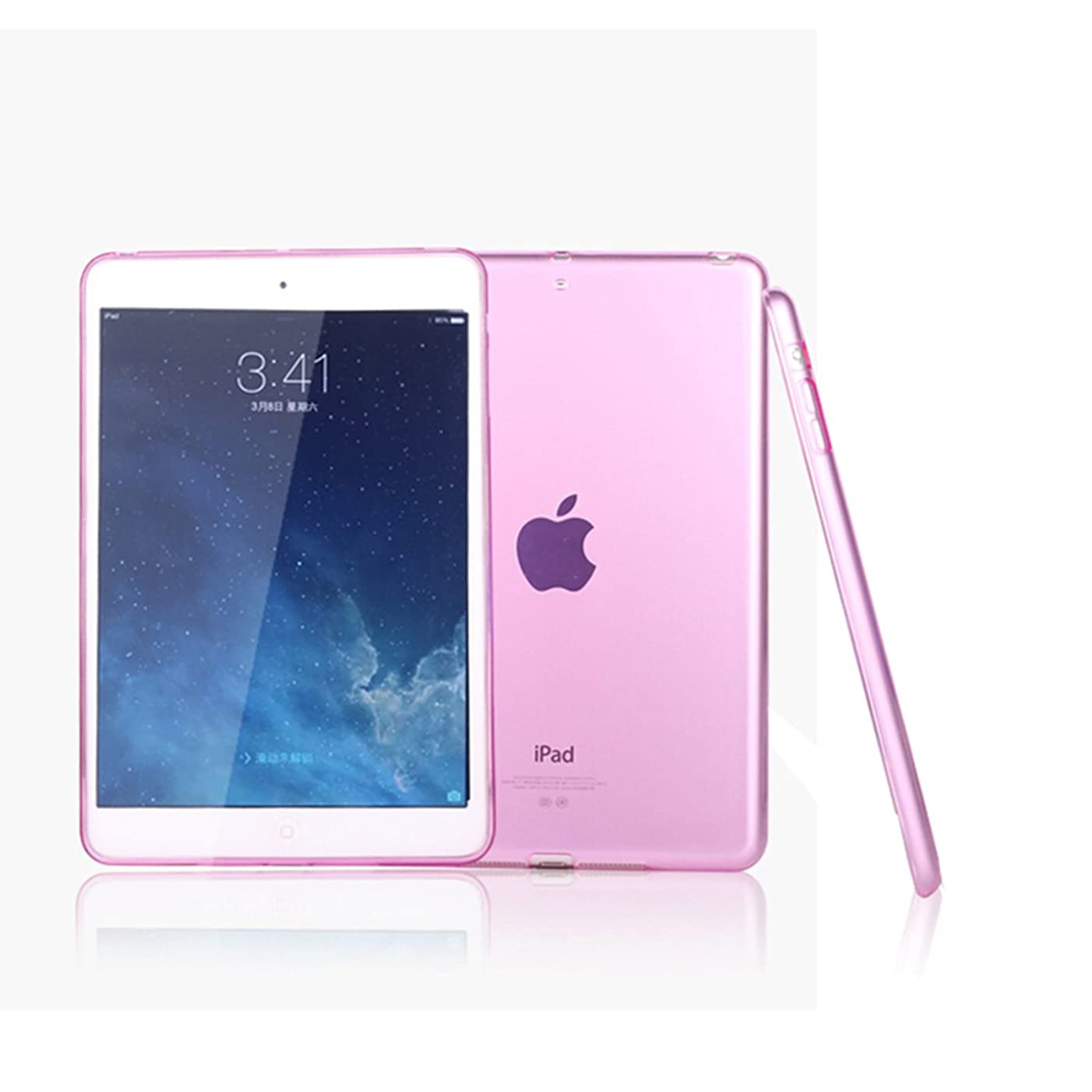 iPad Air/ipad 5 Case, Cavor Ultra-Thin Silicone Back Cover Clear Plain Soft TPU Gel Rubber Skin Case Waterproof Protector Shell for Apple iPad Air/ipad 5 (Pink)
