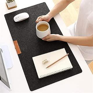 MEKOO 700X330mm Large Office Computer Desk Pads Mat Modern Table Keyboard Mouse Pad Wool Felt Laptop Cushion Desk Mat Gamer Mousepad Mat (Gray)