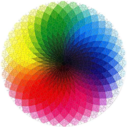 Gradient Puzzel 1000 stukjes Puzzel for Volwassenen Tieners, Grote Ronde puzzel Rainbow Moeilijk en Challenge, Decompression Puzzle Educational Game (Color : B)