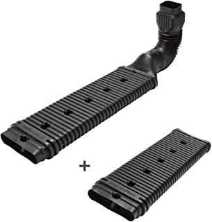 Wholesale Plumbing Supply Combo Pack - Low Profile Downspout Adapter Drainage Kit with Additional 24-in. Extension, Black