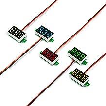 UCTRONICS 0.36 Inch Mini DC Voltmeter 2 Wires 2.5-30V LED Display Digital Voltage Tester Meter, 5 Colors