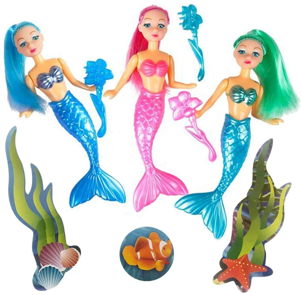 Ranking TOP15 ArtCreativity Mermaid Playset for Girls All items in the store Set 3 Toys with