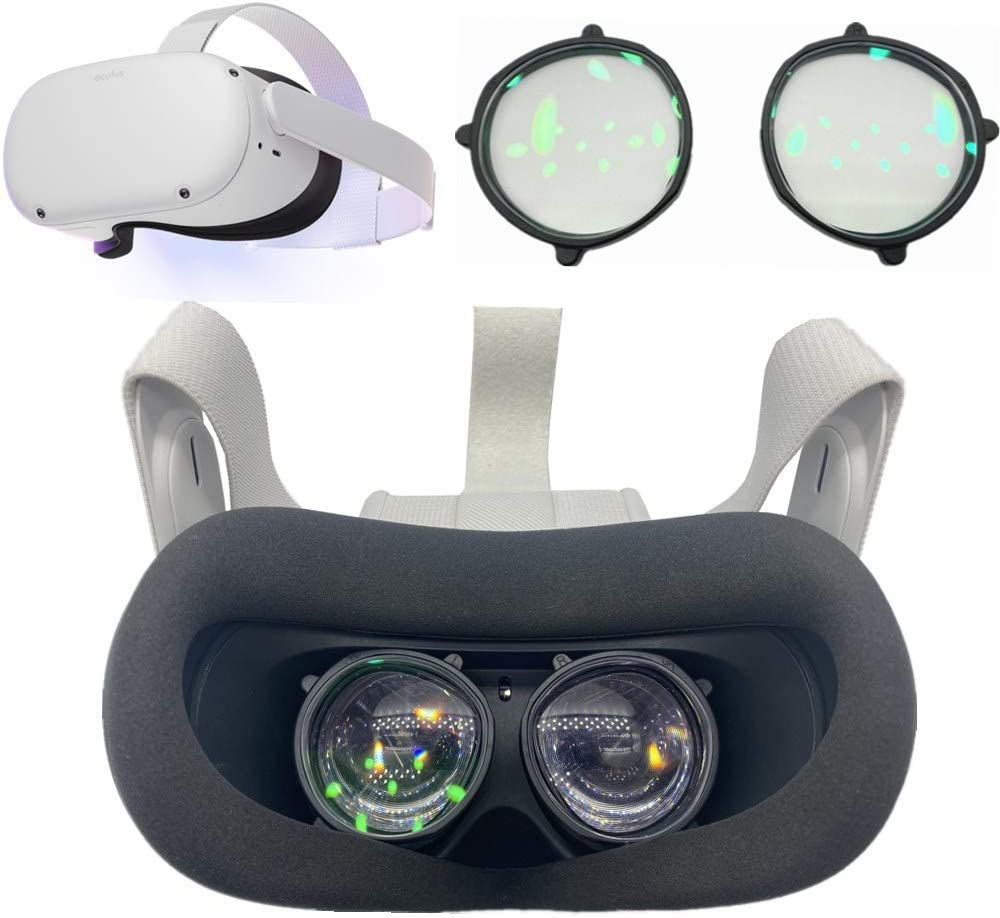 Oculus Quest 2 VR Prescription Lenses Adapter Accessories All in one Easy Installation Glasses Inserts portect Headset Customization (-0.00 to -4.00 (Need Detail Optical Prescription))