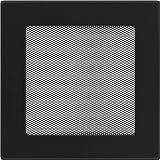 Rejilla de 22 cm x 22 cm Kratki color negro,rejilla de ventilación