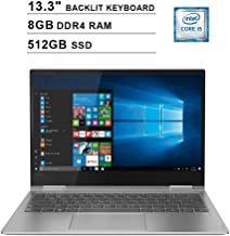 2019 Lenovo Yoga 730 13.3 Inch FHD IPS 2-in-1 Touchscreen Laptop (Intel Quad-Core i5-8250U up to 4.6GHz, 8G RAM, 512GB PCIe SSD, Intel UHD Graphics 620, Backlit Keyboard, JBL Speakers, Win 10)