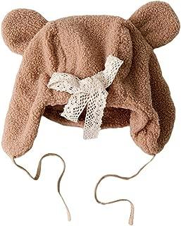 COMVIP Baby Infant Cute Solid Warm Winter Cap Lamb Wool Earflap Beanie Hat