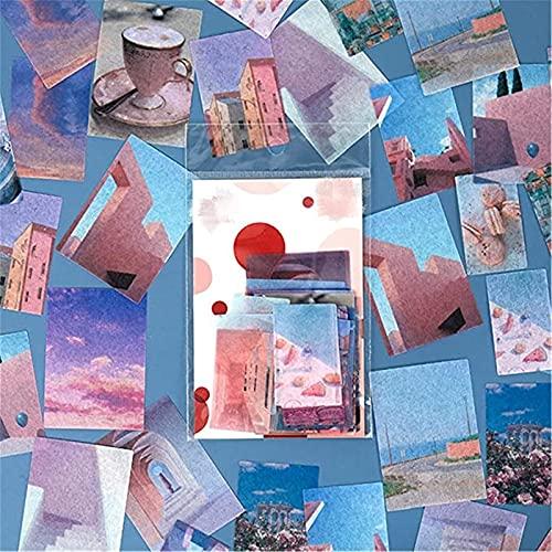 ZOYIEP 40 adesivi per scrapbooking, album fotografici, diari, taccuini, fai da te, decorazioni artistiche (stile 1)