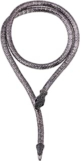 Flexible Bendable Snake Jewelry Necklace Gothic Magnetic Choker Necklace - Versatile Can be Used as Waistband Bracelet