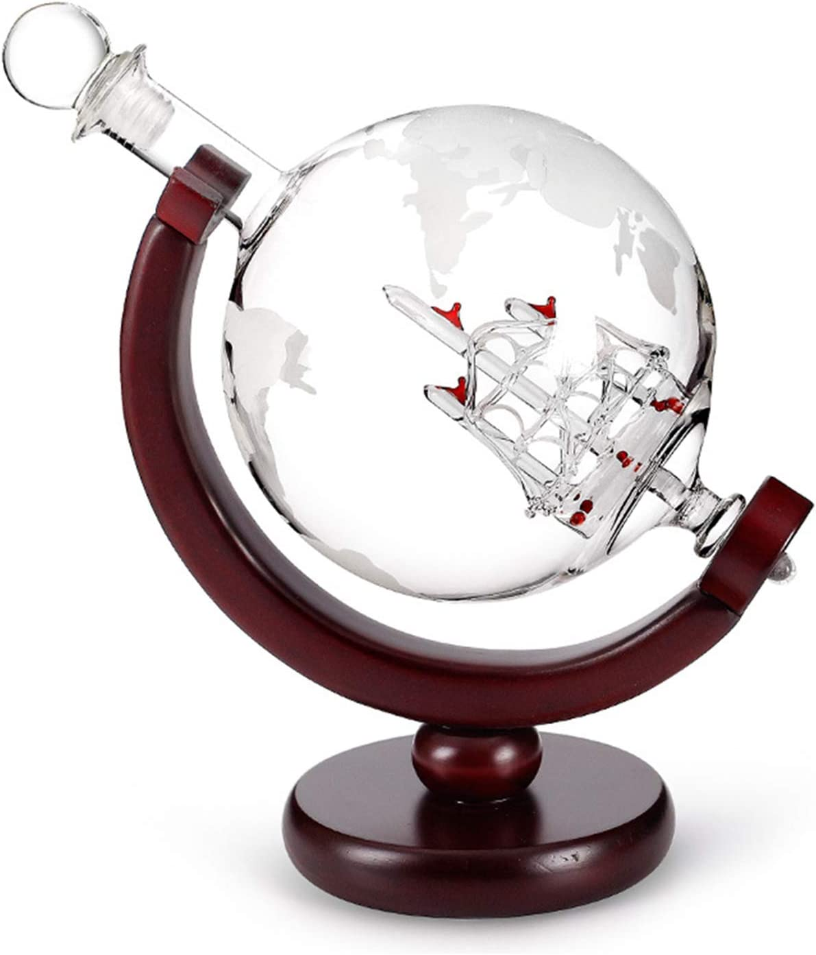 Lynn Etched Globe D/écanteur design avec boule grav/ée pour liqueur Whisky Bourbon Etched Globe Design d/écanteur avec boule grav/ée pour liqueur Whisky bourbon