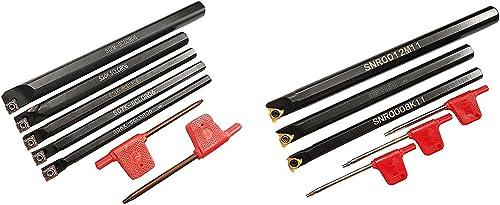 lowest ASZLBYM S06K/S07K/S08K/S10K/S12M-SCLCR06 SNR0008K11 SNR0010K11 SNR0012M11 Lathe Indexable Internal Boring Bar Set, Lathe Turning Tools Holder Set with CCMT21.51 lowest 11IR A60 outlet sale Indexable Turning Inserts online sale