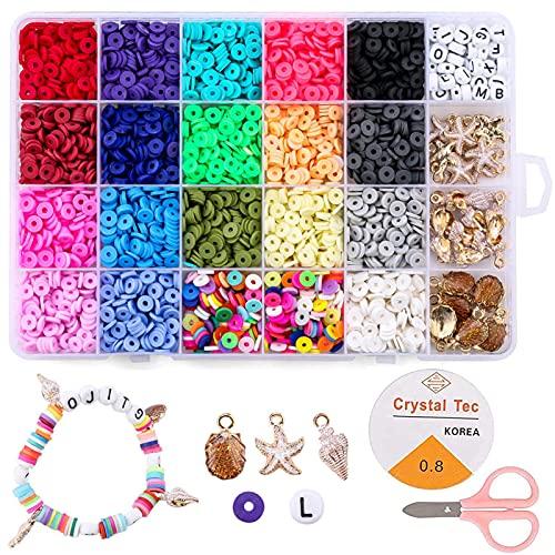 4080PCS Cuentas de Colores 6mm Cuentas de Colores para Hacer Joyas Abalorios...