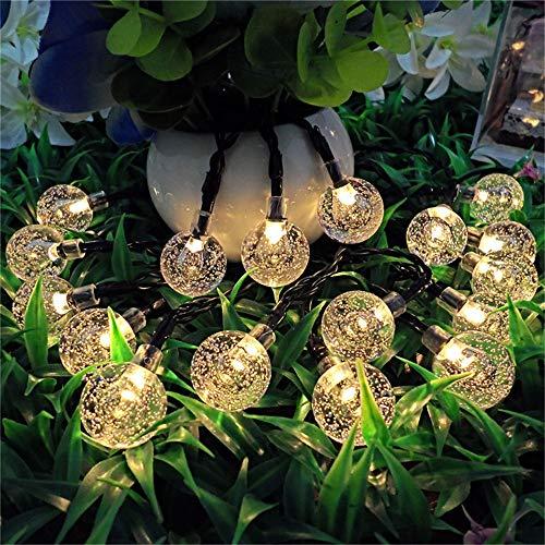 DESESHENME Luz Solar Cuerda Burbuja Bola Linterna Vacaciones navideñas Al...