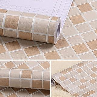Kitchen-dream Papel Autoadhesivo para Azulejos de Mosaico,