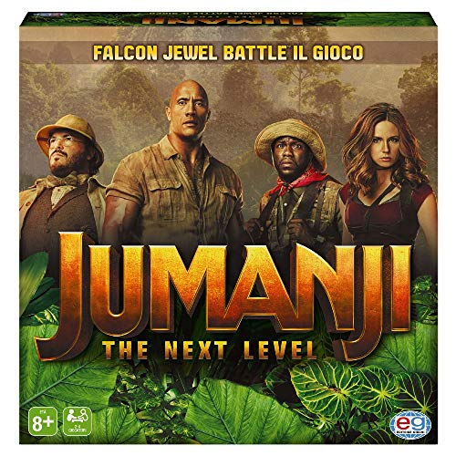 Jumanji 3 The Next Level, Gioco da Tavolo Falcon Jewel Battle Game per Bambini, Famiglie e Adulti