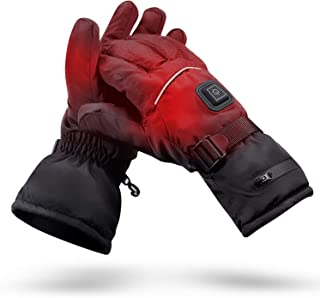 ANGUO Heated Gloves with Rechargeable Battery Heated for Men and Women, Warm Gloves for Outdoor Cycling Skiing Hiking,3 Levels Temperature Control and Works Up to 2.5-5 Hours
