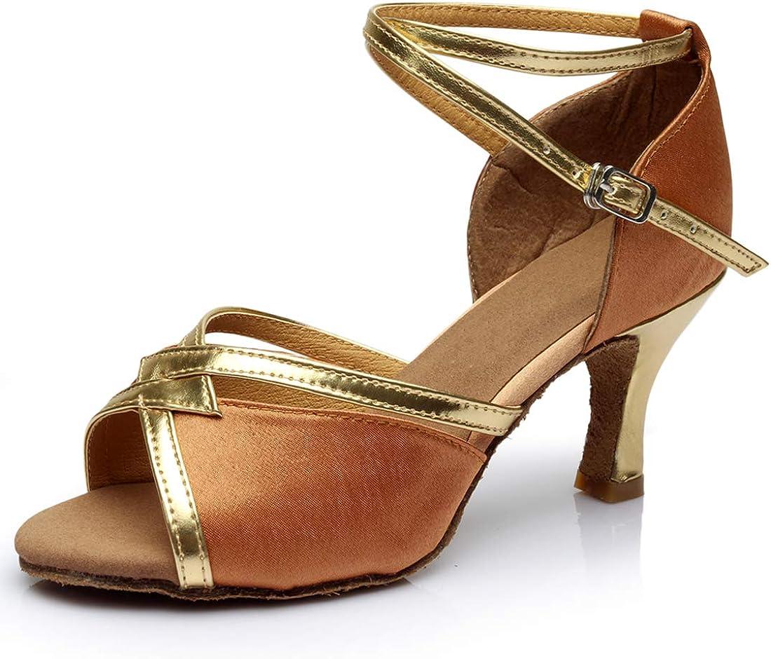Import Women's Satin Latin Dance Shoes Rumba Tango Salsa Chicago Mall Ballroo ChaCha
