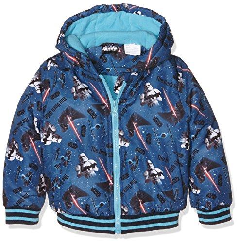 Disney Star Wars, Abrigo para Niñas, Azul, 4 años