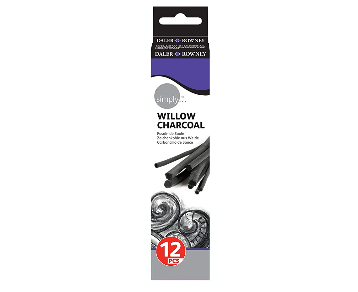 Daler Rowney Simply Willow Charcoal 12 Pcs