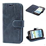Mulbess Cover per Samsung Galaxy S3, Custodia Pelle con Magnetica per Samsung Galaxy S3 / S3 Neo [Vinatge Case], Blu Navy