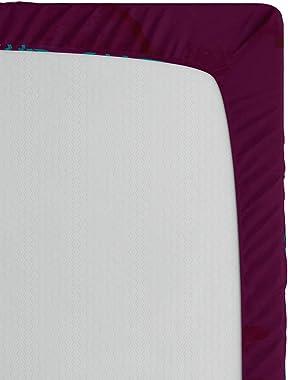 Lunarable Bohemian Mandala Fitted Sheet, Inspired Sun Look Flourish Ornament Motifs and Lines, Soft Decorative Fabric Bedding