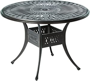 Alfresco Home 22-1051-AB Florentine Round Outdoor Bar Table, 42-Inch