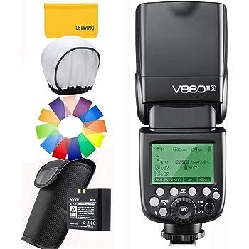 【技適マーク付き&日本語説明書付】Godox Ving V860II-S 2.4G GN60 TTL HSS 1/8000s リチウムオン電池カメラフラッシュスピードライト - 1.5Sリサイクルタイム650フルパワーポップ TTL/M/マルチ/ S1/ S2をサポート Sonyソニーデジタル一眼レフカメラに対応