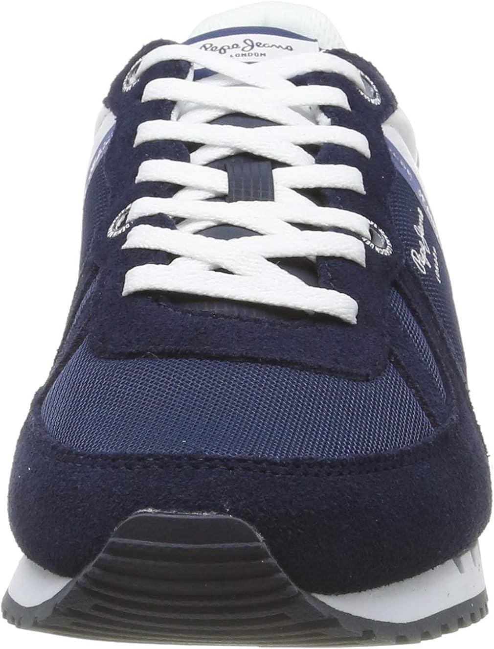 Pepe Jeans Tinker Zero Seal, Baskets Homme Bleu 582midnight 582