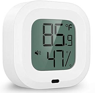 XYXZ Mini Higrómetro Termómetro Inalámbrico Digital Bluetooth 5,0 Sensor De Temperatura De Humedad Alerta Imán Incorporado...