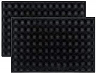 thin black rubber mat