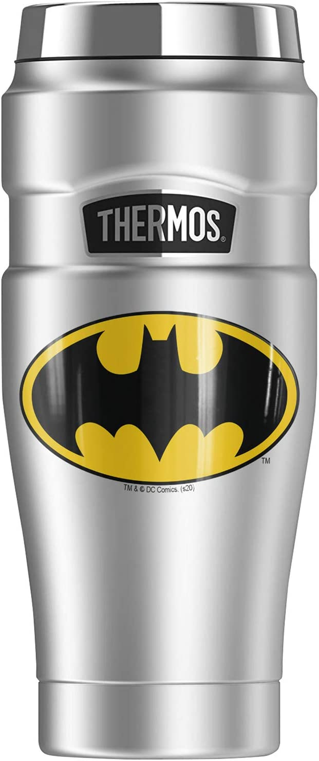 Batman 誕生日/お祝い Classic Logo THERMOS STAINLESS Trav Steel Stainless 定番から日本未入荷 KING