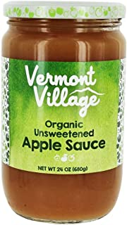 Vermont Village Cannery Organic Unsweetened Applesauce, 24 Ounce (Pack of 6)