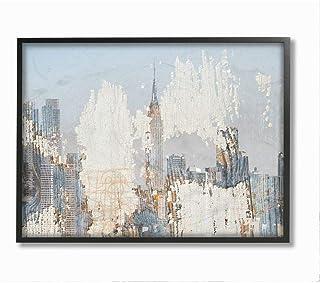 Stupell Industries Urban Distressed New York City Skyline, Designed by Irena Orlov Wall Art, 24 x 30, Black Framed