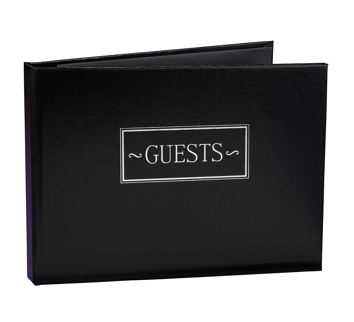 Hortense B. Hewitt Wedding Accessories All Occasion Guest Book, Black, 7.5-Inches x 5.75-Inches