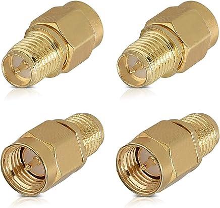 Cable alargador SMA Macho a SMA Hembra coaxial Adaptador WiFi FPV Antena Conector RP SMA Cable extensi/ón 2M Accesorios electr/ónicos DDG EDMMS