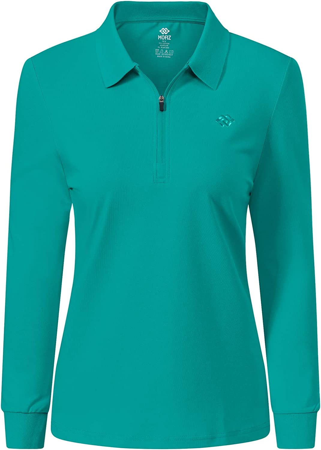 JINSHI Women's Golf Topics on TV Polo Shirt Long Active Sleeves Year-end gift Zip Sport Up