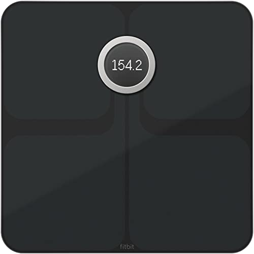 Fitbit Aria 2 Wi-Fi Smart Scale Measures Body Fat% and BMI - Black