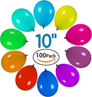 Party Balloons, Splaks 100 Pcs Assorted Color Latex 10 Inches for Easter Decoration Party Birthday Wedding Holiday and Special Occasion