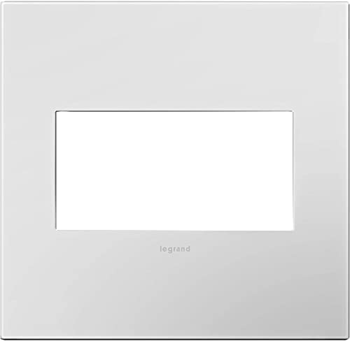 Adorne AWP2GPW4 2-Gang Wall Plate in Powder White