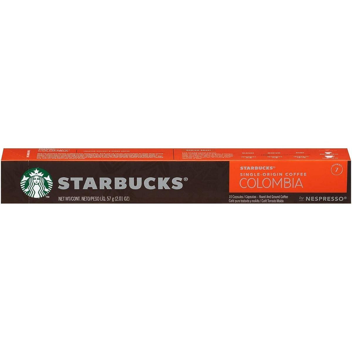 Starbucks Nespresso Columbia Espresso Roast Coffee Pods 10 pods, pack of 1 oesvdvpvyty3