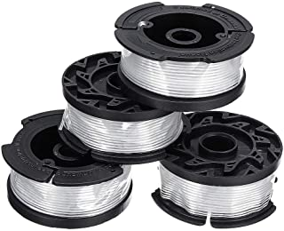 SGerste 4Pcs 30ft 0.065 Inch Lines Replacement Lawnmower Spool For Black and Decker AF-100 Grass Trimmer