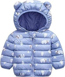 Baby Boys Girls Winter Coats Hoods Light Puffer Down Jacket Outwear
