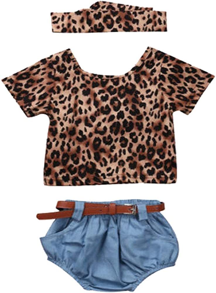 Newborn Baby Girl Leopard Outfits Kids Backless T-Shirt San Antonio Mall T shipfree Ruffle