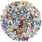 EUFFO Aesthetic Aufkleber Sticker Set 100 Stück Schmetterlinge und Blumen Decals Vintage Wasserfeste Vinyl Sticker für Laptop Fahrrad Scrapbook Motorrad Skateboard Koffer Stickerbomb Deko Sticker