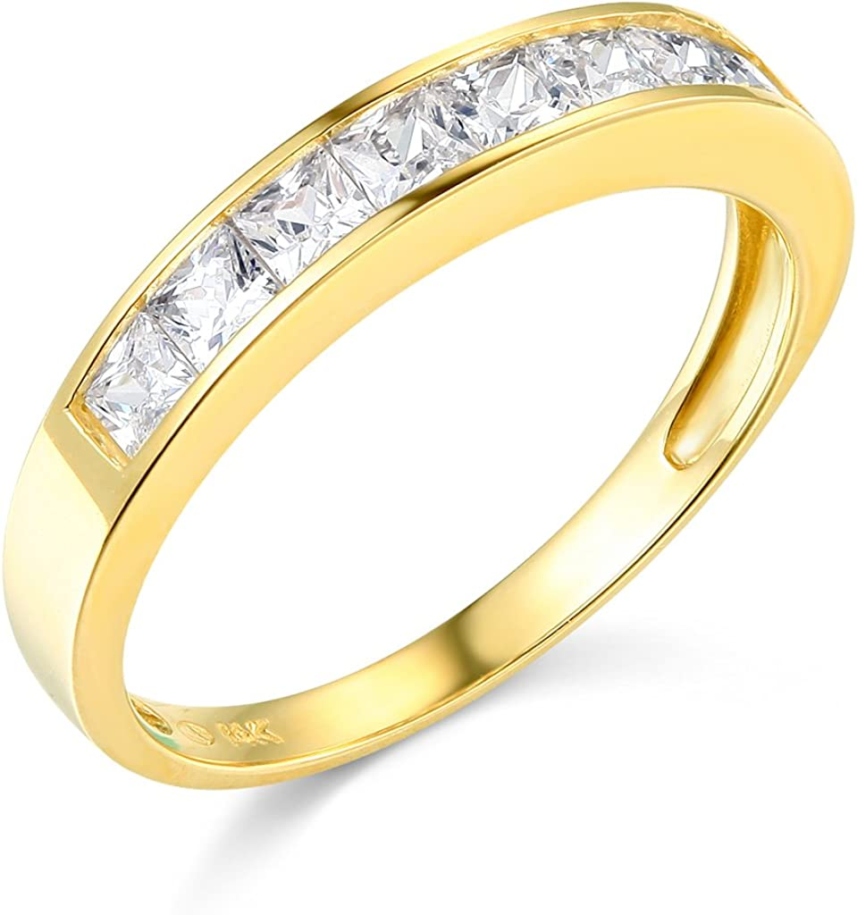 14k Yellow OR White Gold Band Wedding Attention Max 72% OFF brand Set Channel